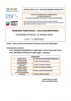 Seminario territoriale VALUTARCOMPETENZE